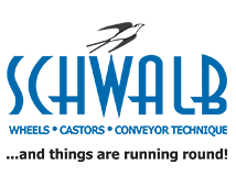 Logo Schwalb wheels and castors