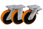 Welded Swivel and Fixed Castors with Polyurethane Wheels from Schwalb Castors